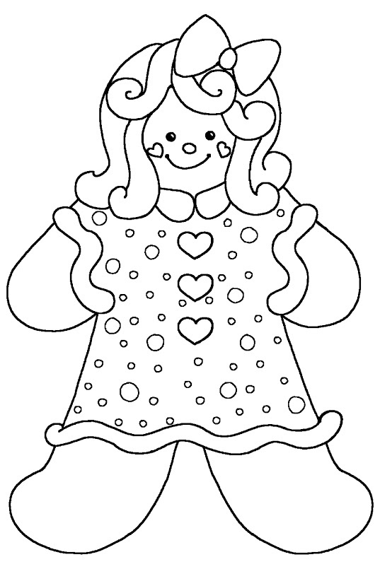 girl gingerbread | for the kids | Christmas coloring pages ...