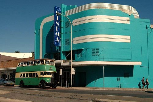 allthingsartdeco:  (and AQUA too!)  Beautiful Art Deco cinema in the Streamline style (Collaroy, NSW Australia)
