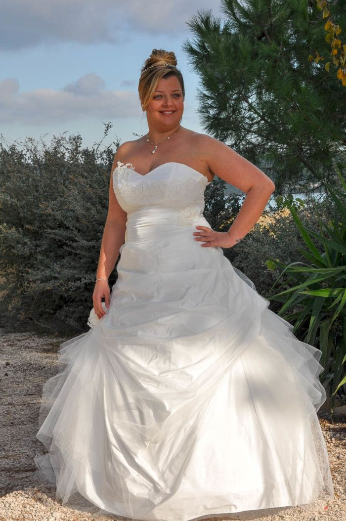 bustier grande taille mariage