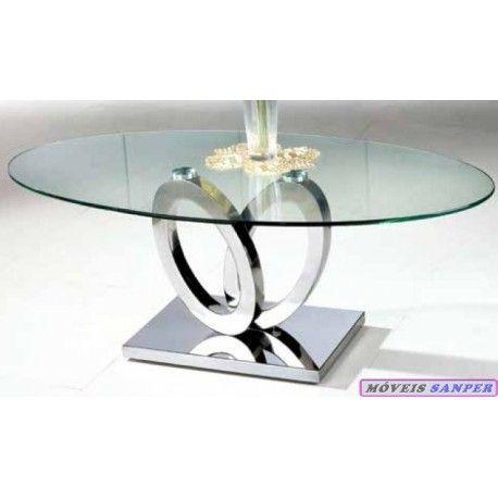 Mesa Centro 5120021 Vidro c/ Pé Inox Mesa de Centro com tampo em vidro e Pé em Inox Largura: 120* Altura: 45* Profundidade: 66 -20%