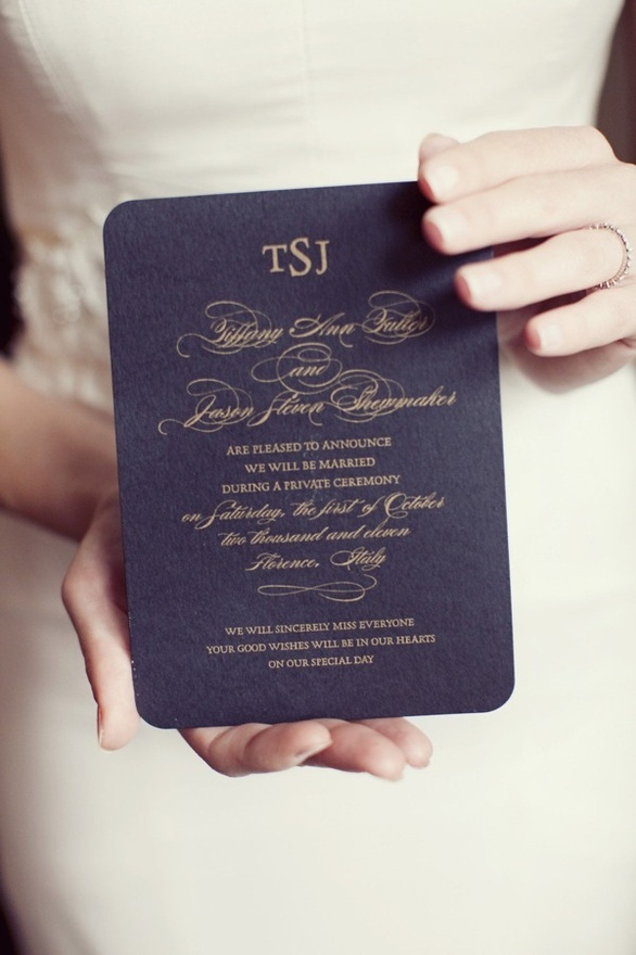 Reception Invitation Wording After Elopement with beautiful invitation design