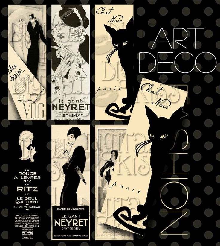 art deco labels