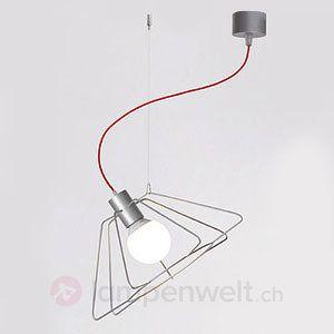 Designer-Hängeleuchte Miki aus Drahtgestell, 50 cm sicher & bequem online bestellen bei Lampenwelt.de.