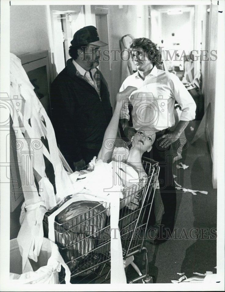 1986 Press Photo Victor French Michael Landon Actors Highway To Heaven