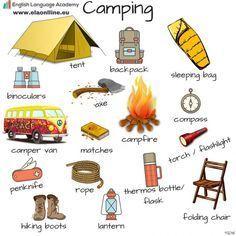 Anglická slovná zásoba, Angličtina slovíčka, Kemping, English Vocabulary, Camping