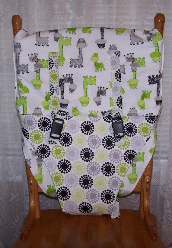 THIS IS A SPECIAL ORDER LISTING ONLY. IF YOU WANT ONE OF THESE MADE, PLEASE CONVO ME FOR A SPECIAL ORDER. Otherwise, I do have some premade listings of these for sale. Portable travel high chair, chair sling, or chair cover for your baby or toddler. For babies who can sit unassisted approximately 6 months up and up to 35 lbs. The top fits down 9 over the top of the chair. It has straps that slip through loops on the top back of the chair and tie so you can adjust the snugness of the fit. The…