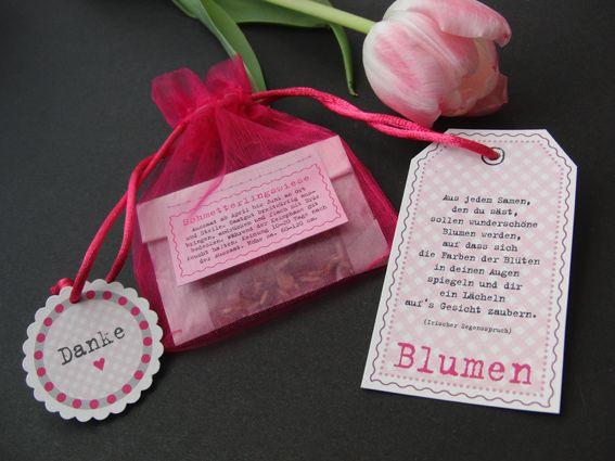 Gastgeschenk,+Blumensamen,+rosa+von++KW16+auf+DaWanda.com Zur Konfirmation von Eric