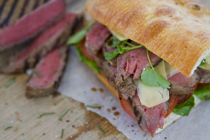 the ultimate rump steak sandwich!