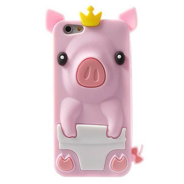 coque cochon pig couronn en silicone pour iphone 6 et 6s 4 7 coques case. Black Bedroom Furniture Sets. Home Design Ideas