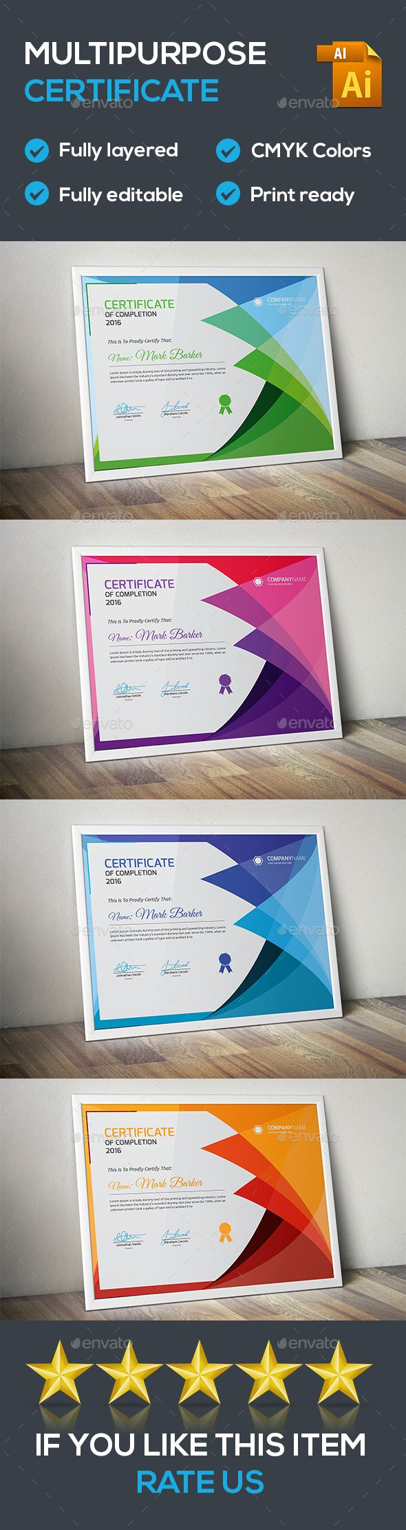 Certificate - Certificates Stationery Download here: https://graphicriver.net/item/certificate/19821986?ref=classicdesignp