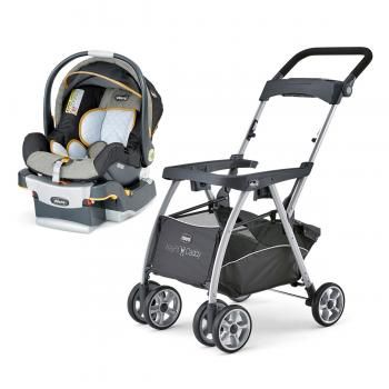 Keep the base in your car, and just move the seat from base to stroller. - Chicco KeyFit Caddy & Keyfit 30 Infant Car Seat Bundle.