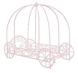 DHP Metal  Carriage Bed, Twin, Pink