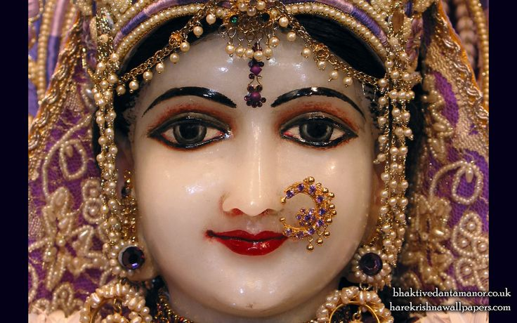 To view Radha Close Up Wallpaper of Bhaktivedanta Manor in difference sizes visit - http://harekrishnawallpapers.com/sri-radha-close-up-iskcon-bhaktivedanta-manor-wallpaper-002/