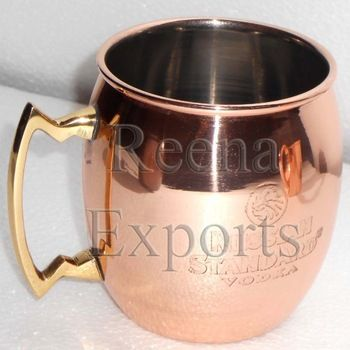 Buy 14 oz RUSSIAN STANDARD MOSCOW MULE MUG SOLID COPPER MULE MUG MANUFACTURER FROM INDIAHome Decor on bdtdc.com