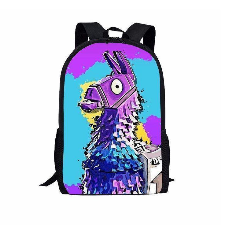 Game Fortnite Troll Stash Llama Backpacks School Bag ...
