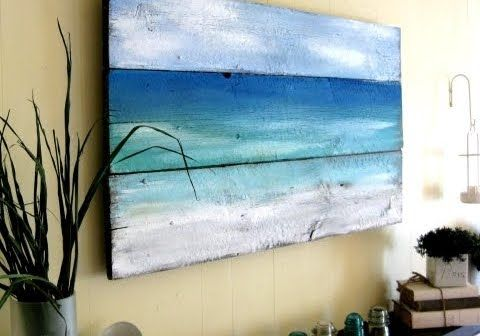 Simple colour washes on wood can create stunning pieces of art for your coastal home