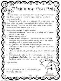 Summer Pen Pals Penpal, Summer writing, Pals