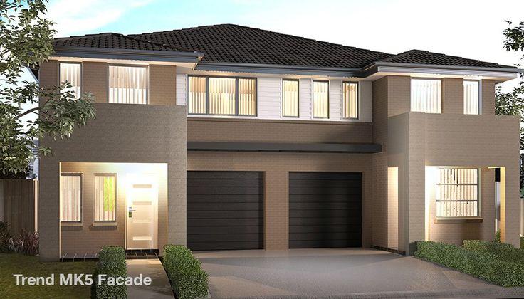 Проект двухэтажного жилого дома, дуплекс  с летней террасой и гаражом для одного автомобиля, Mk6 -100404