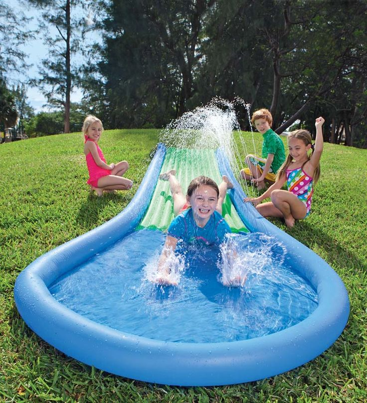 HearthSong Inflatable Water Slide for Kids