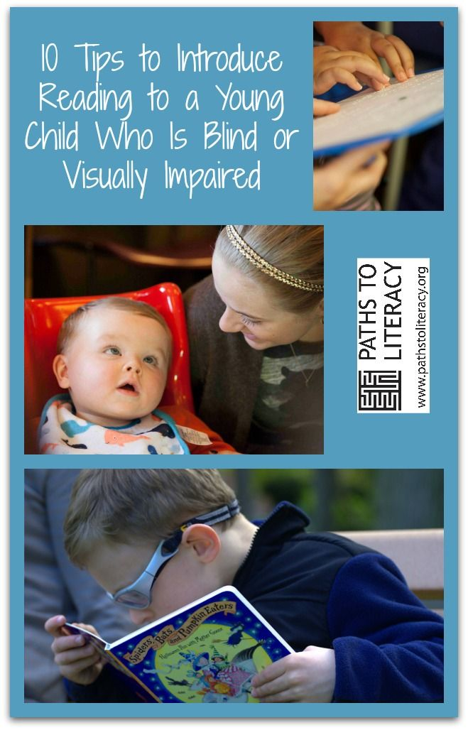 10 tips to introduce reading to young children who are blind or visually impaired!