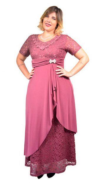 7402aff0a6 Vestido Plus Size Festa de Renda e Malha ITY Span – Moda Maior Plus Size