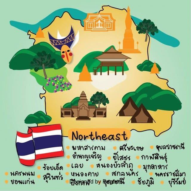 แผนท ประเทศไทย ภาคเหน อ ไอคอนแผนท ไอคอนประเทศไทย สถานท ท องเท ยวภาพ Png และ เวกเตอร สำหร บการดาวน โหลดฟร แผนท ภาพประกอบ การออกแบบต วละคร