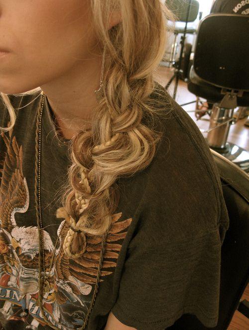 Braid in a braid.