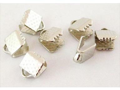 20 stk - Endestykker til bånd 6 mm PF (R2) - E004Y | Endestykker til snor | lav selv smykker | hurtig levering
