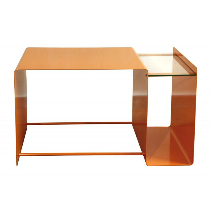 Modern metal coffee table with glass panes. It's very minimalistic and it can be a perfect decoration for the living room. Made by Neo-Spiro.