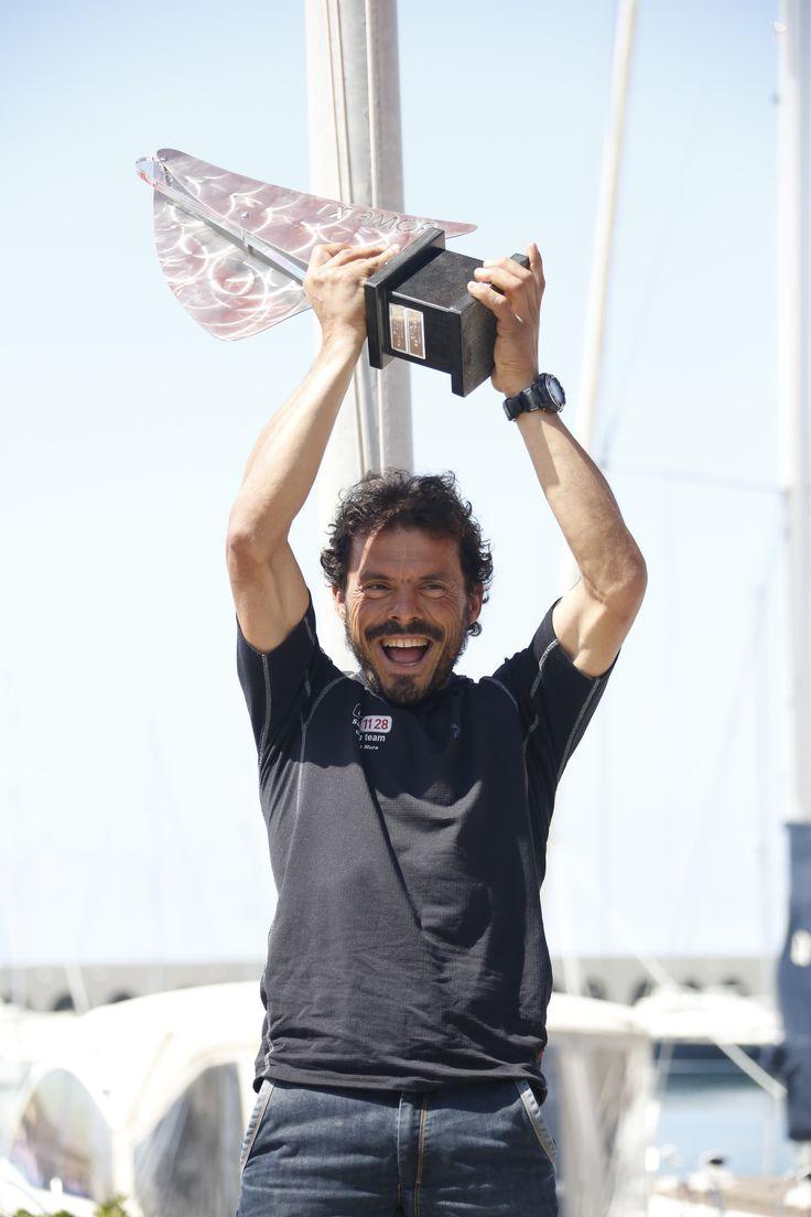 La premiazione di Gaetano Mura alla Roma x 1 , la regata in solitario vinta con bet1128.
