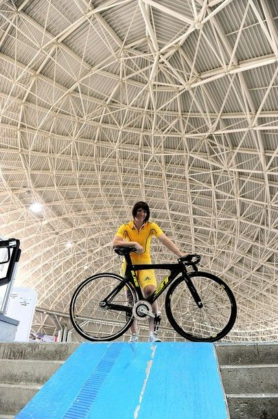 Anna Meares of Australia women's track cycling team poses during a media day on July 17, 2012 in Brescia, Italy. (via Photo from Getty Images)