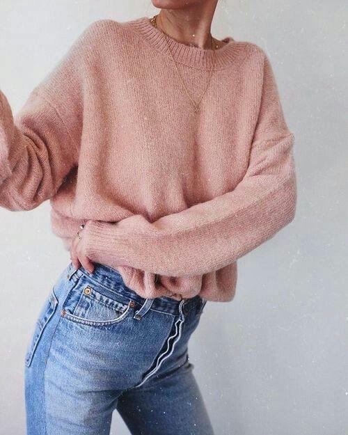oversized blush sweater | follow @shophesby for more gypset boho modern lifestyle + interior inspiration