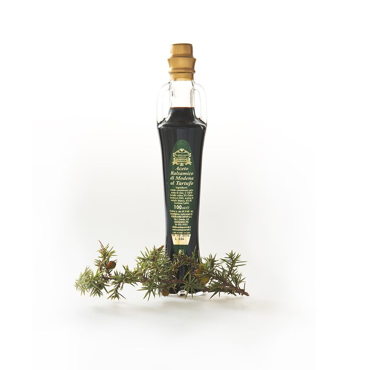 Balsamic vinegar - truffle flavours from the land of truffle Acqualagna, Italy.