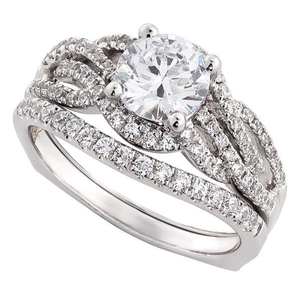 Ikuma Canadian Diamond Two Piece Wedding Set With A 1 Carat Center Other