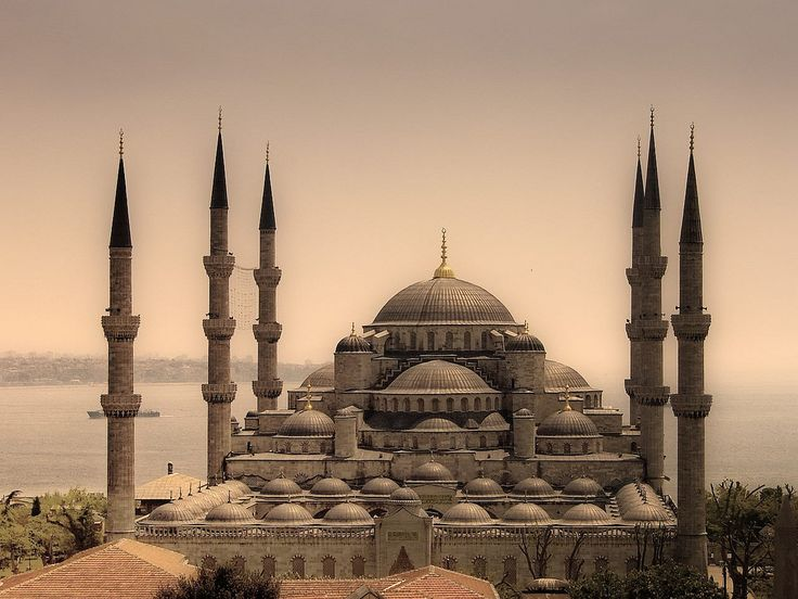 Sultan Ahmed Mosque (a.k.a. the Blue Mosque), Istanbul, built 1609-16.