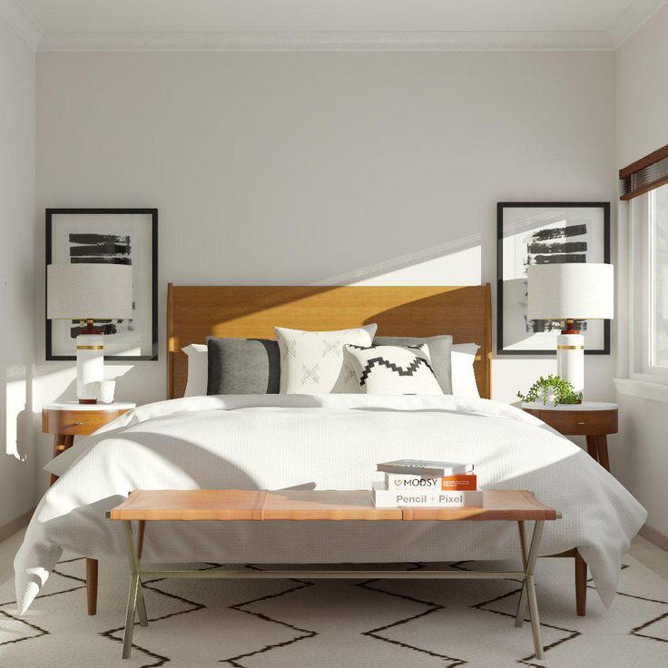 orange light in of master county photos ideas wood floor mid design gray bedroom midcentury century example a with stylish large modern