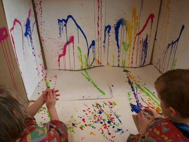 17 beste idee n over peuter kunst op pinterest peuterwerkjes peuter kunstprojecten en - Kwekerij verf ...