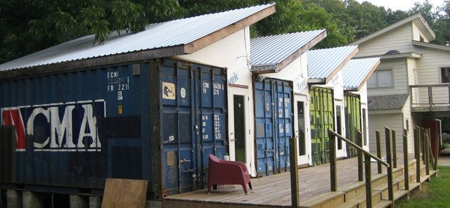 Art studio created from containers