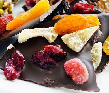 Recept: Chokladbräck med frukt