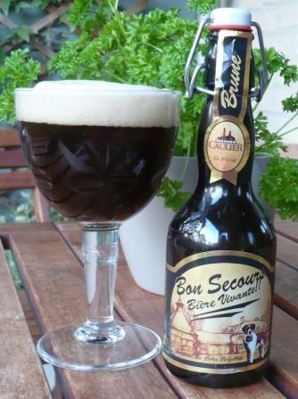 Brouwerij Caulier - Caulier Bon Secours Brune (Biere Vivante!)(Abbey dubbel) 8,0% pullo 1/2 Teron kanssa HBF 12.4.2008