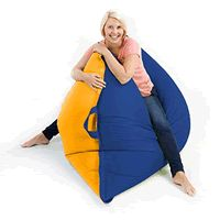 Outdoor giant bean bag with handle read the review here http://giantbeanbagliving.blogspot.co.uk/2015/09/giant-outdoor-bean-bag.html