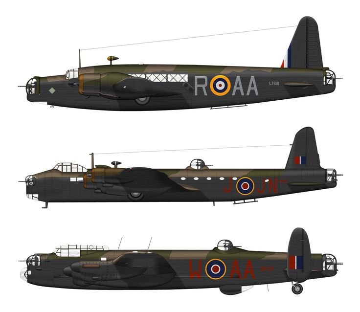 Aircraft of 75 (NZ) Sqn   Wellington / Stirling / Lancaster
