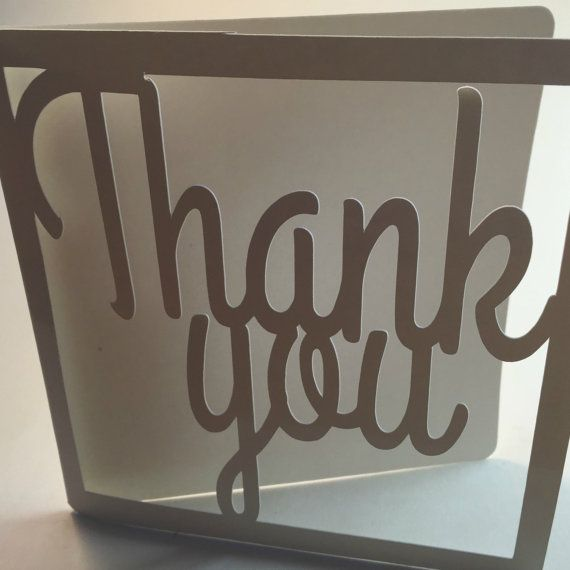 Super white super glossy chic Thank you card FREE by weheartcards