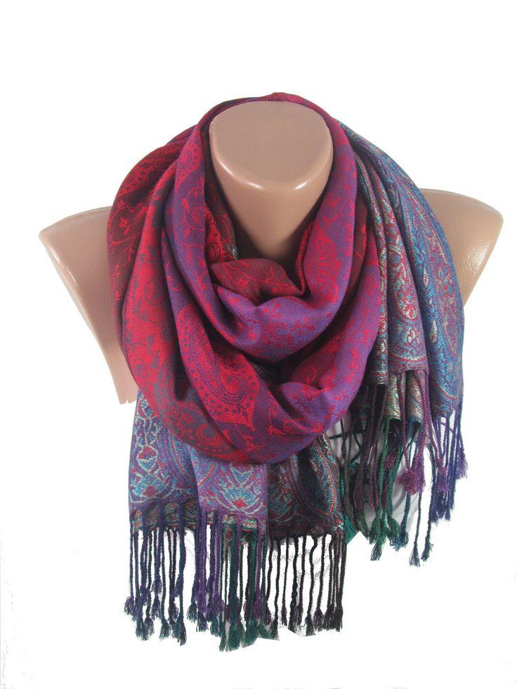 Purple Pashmina Scarf Shawl Mothers Day Gift Purple Scarf   www.scarfclub.net