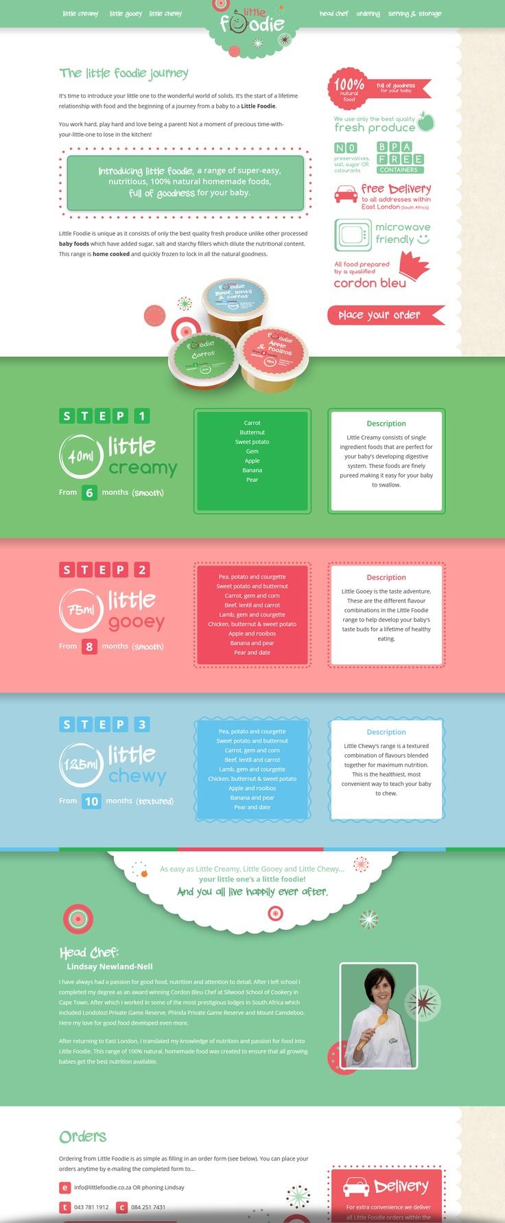 Website design for Little Foodie