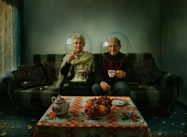 "Elegy of Autumn, by Dina Bova: ""It is a melody of autumn – a story about elderly couple living together all life, each in his personal world, each with his own secrets. It's a story that has both – sadness and smile…"" Winner Nikon Photo Contest 2013"