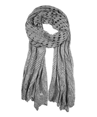 Love this Gray Open-Knit Scarf on #zulily! #zulilyfinds