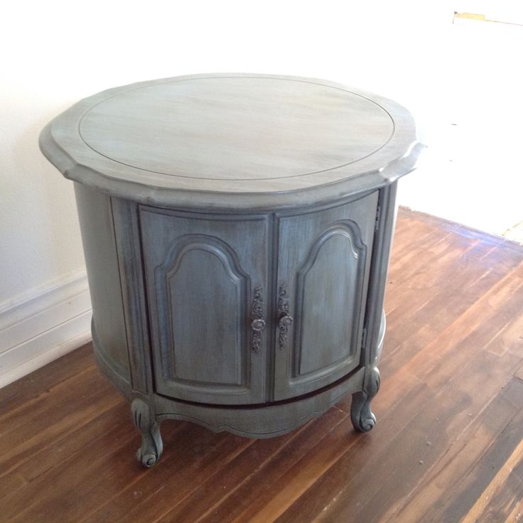 Best Chalk Painted Blue Grey French Provincial Side Coffee 400 x 300