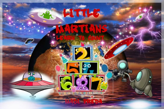 Children's Books-Little Martians Learn To Count by Madi Preda | AUTHORS PROMOTION