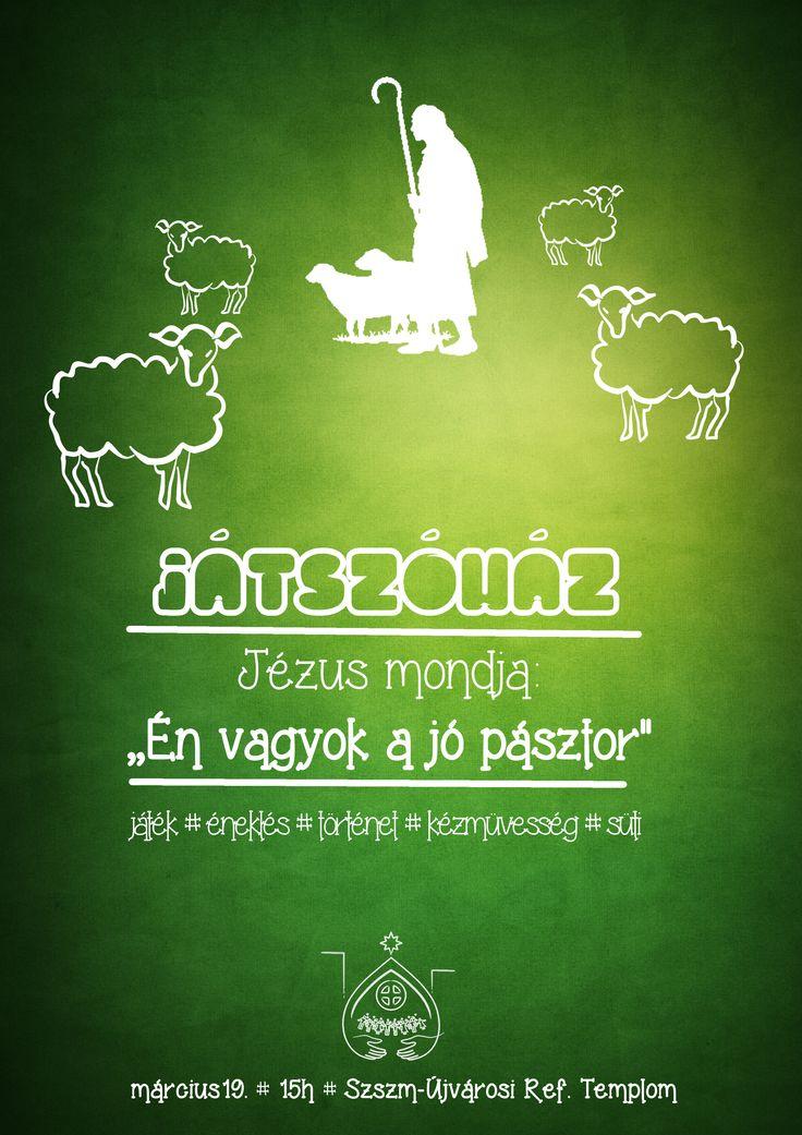 Saját plakátok    Játszóház - Jézus a jó pásztor  []  My posters, event flyers    Playhouse - Jesus is the good pastor